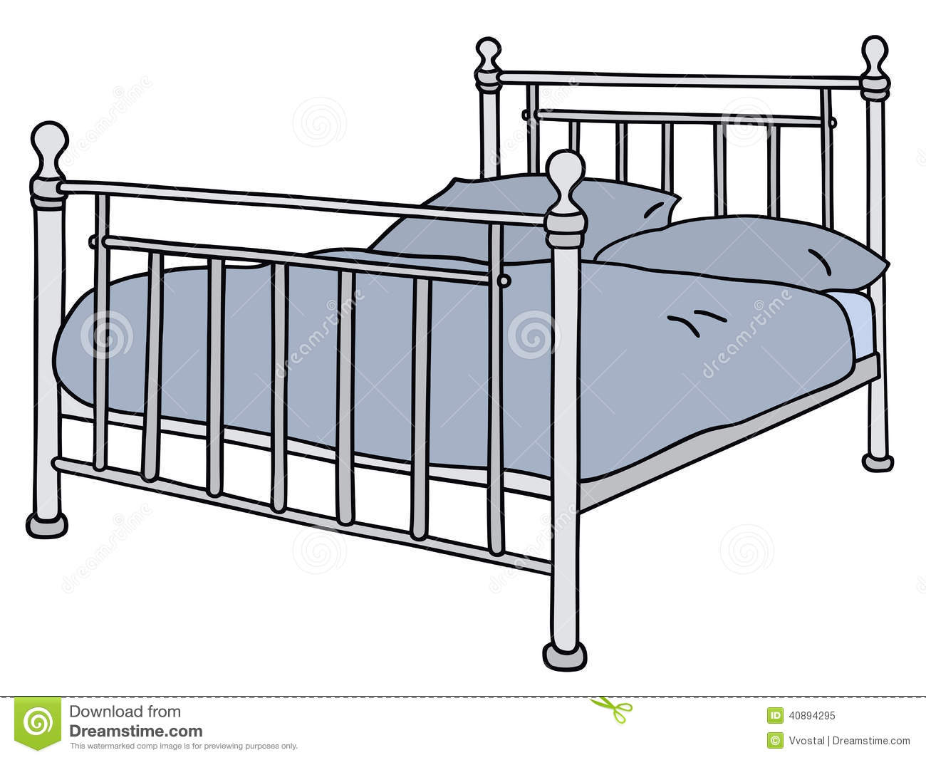 Bed stock vector image 40894295 - Double bed image ...
