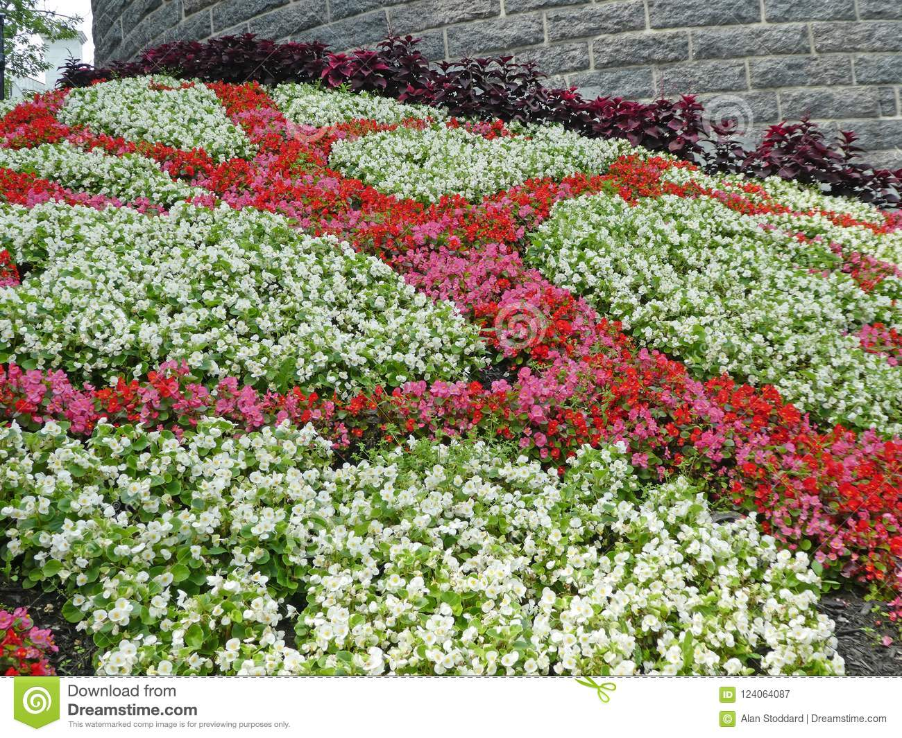A Bed In The Joan Of Arc Garden In Quebec City Canada Is Pictured On August  8 2018.