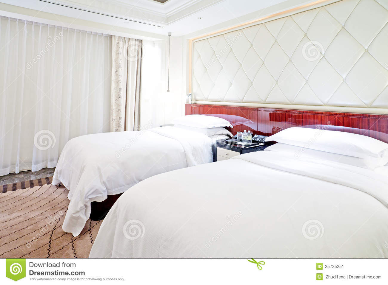 Bed in live room