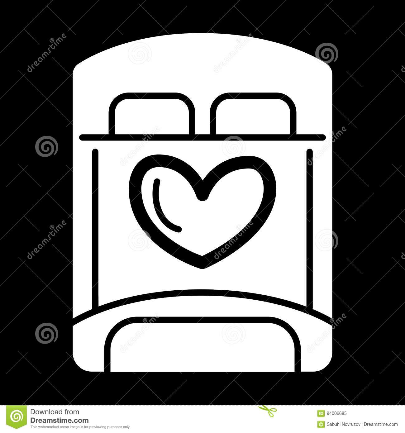 Bed for lovers simple vector icon black and white illustration of bed for lovers simple vector icon black and white illustration of bed for sex solid linear icon biocorpaavc