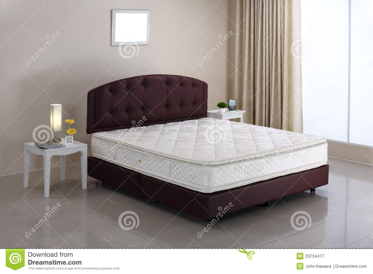 Bed Mattress And Bedroom Atmosphere Stock Image - Image of anatomy ...