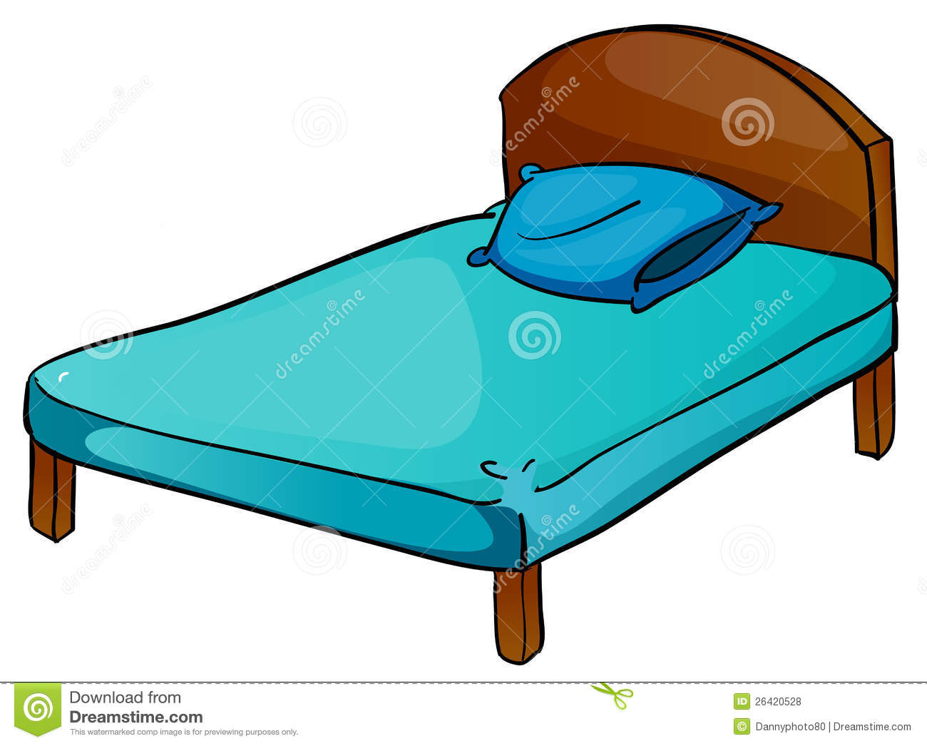 Bed And Pillow Royalty Free Stock Photos - Image: 26420528
