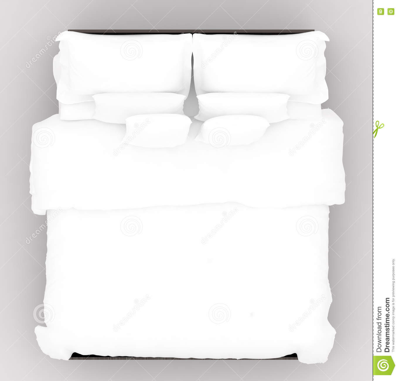 Bed with a soft mattress top view stock illustration image 80011762 - Dessus de matelas ikea ...