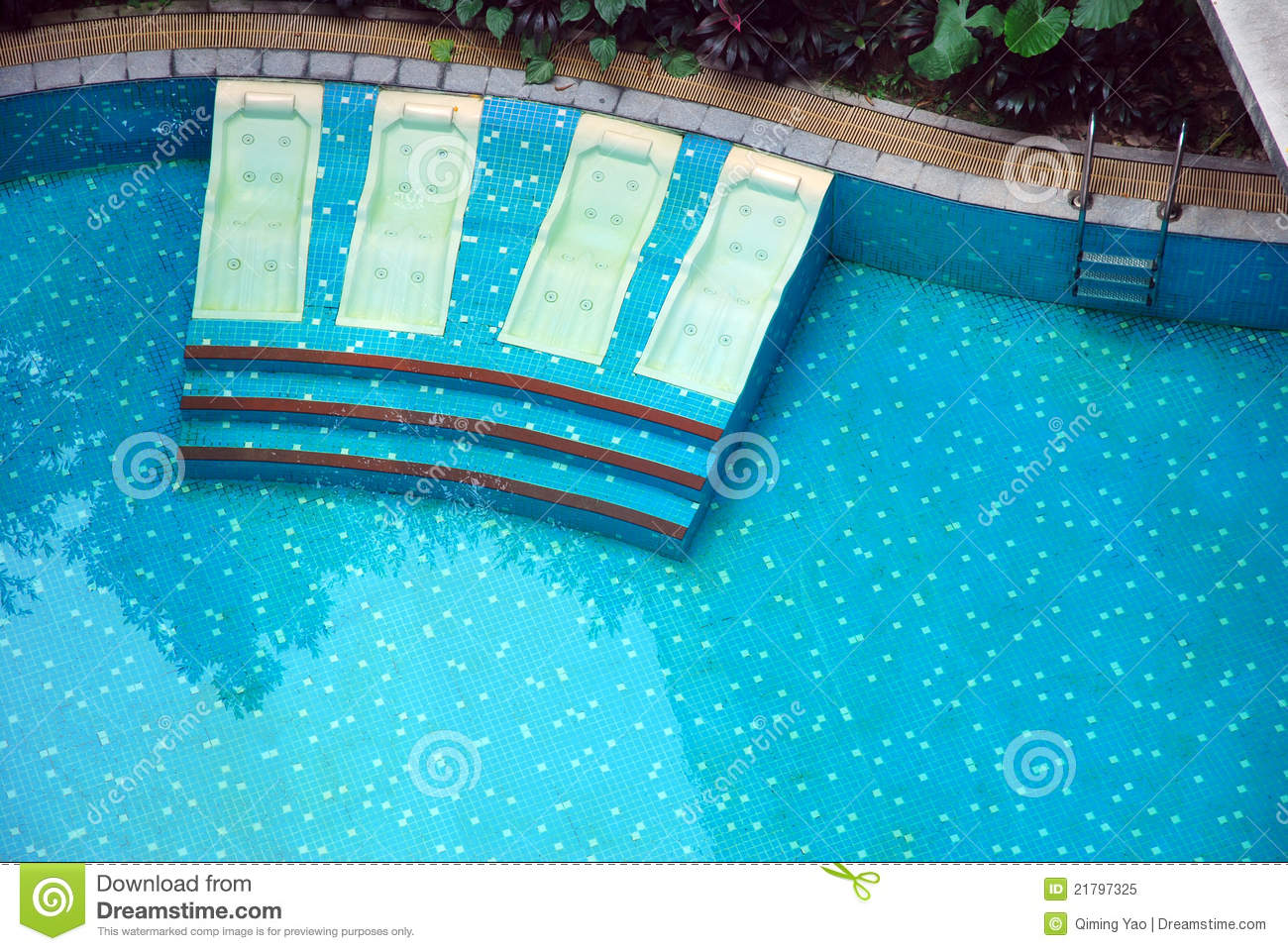 Pool Beds bed and swimming pool royalty free stock photo - image: 21797325