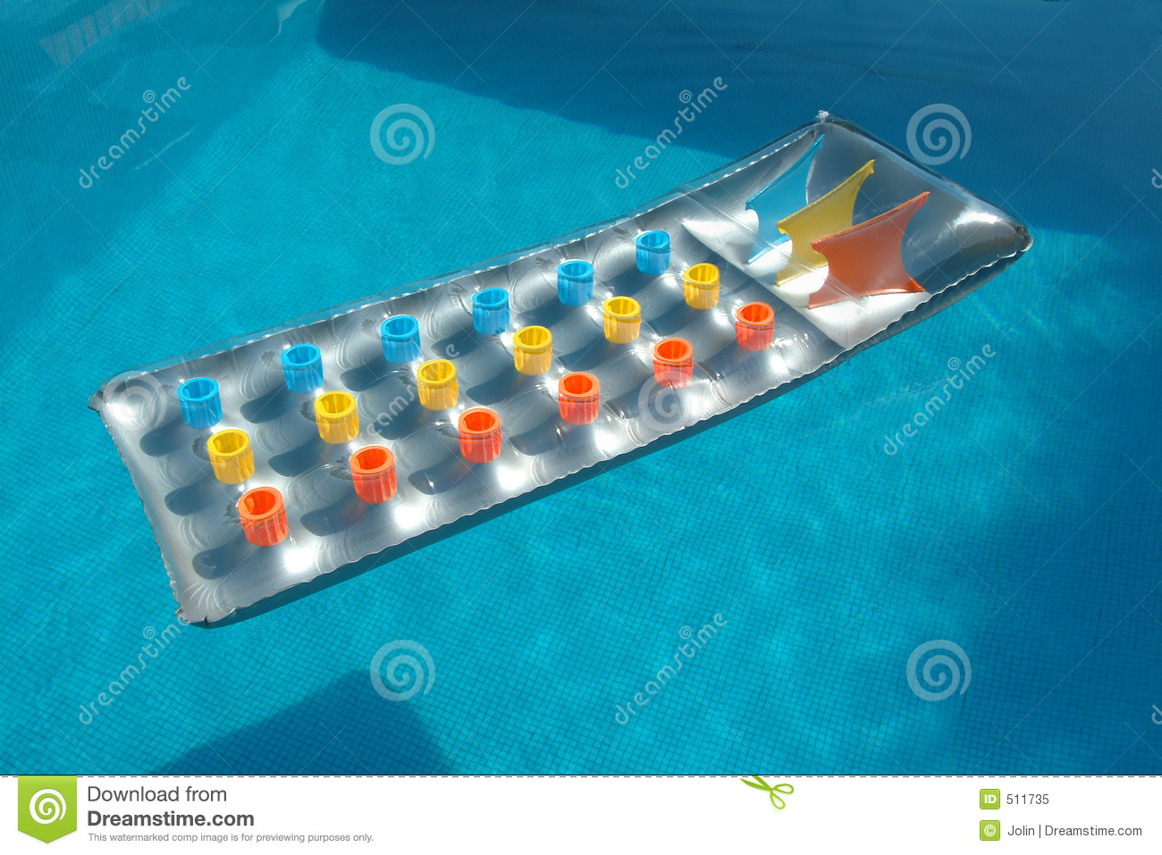 Bed in the swimming pool royalty free stock photo image for Swimming pool bed