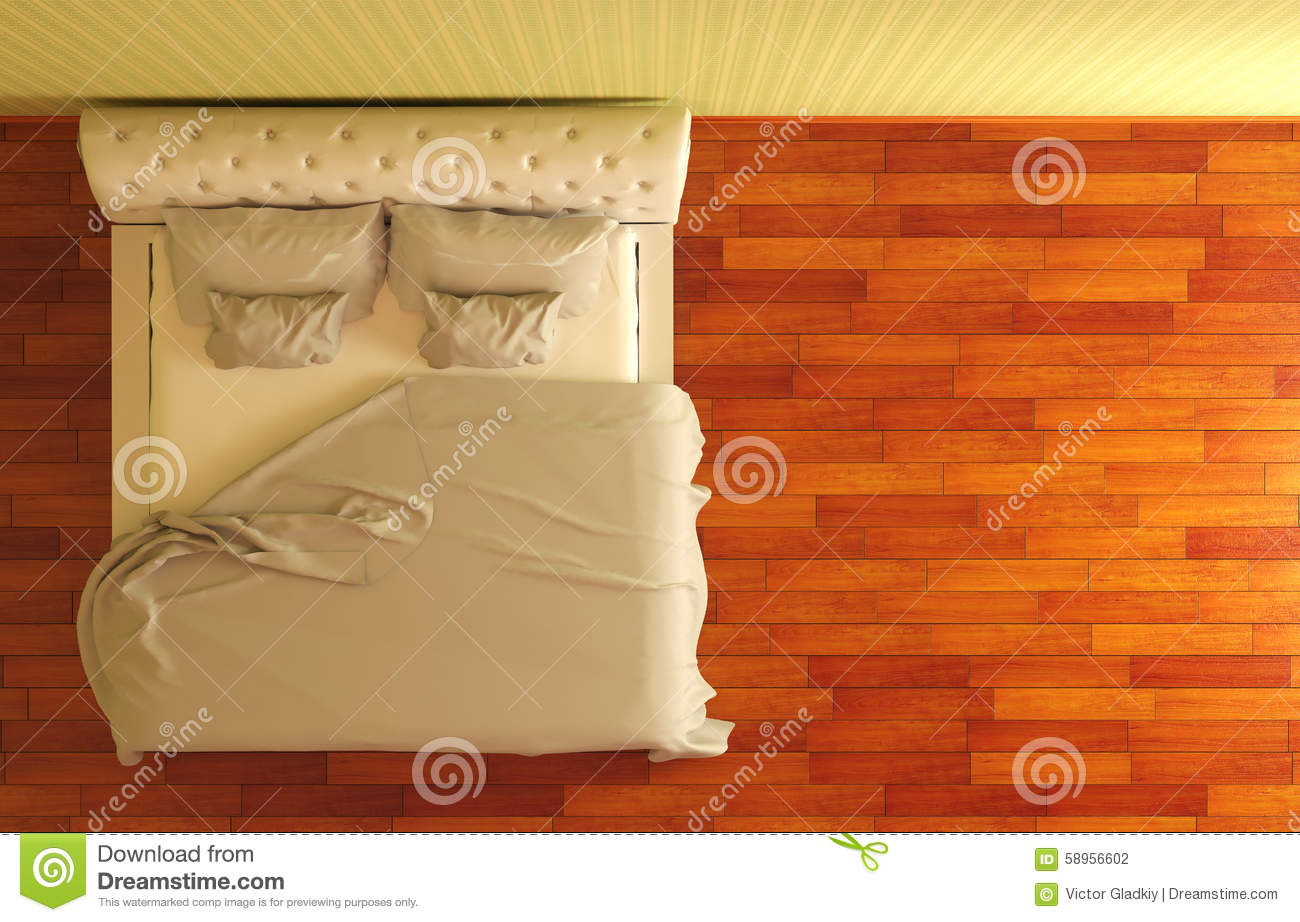 Bed Top View Stock Illustration Illustration Of Apartment
