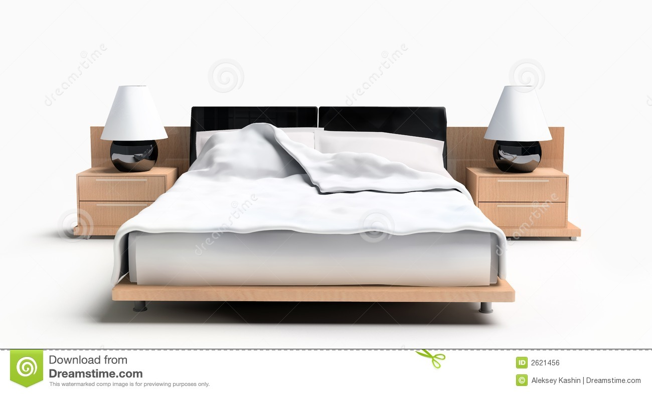 Bed On A White Background Royalty Free Stock Image
