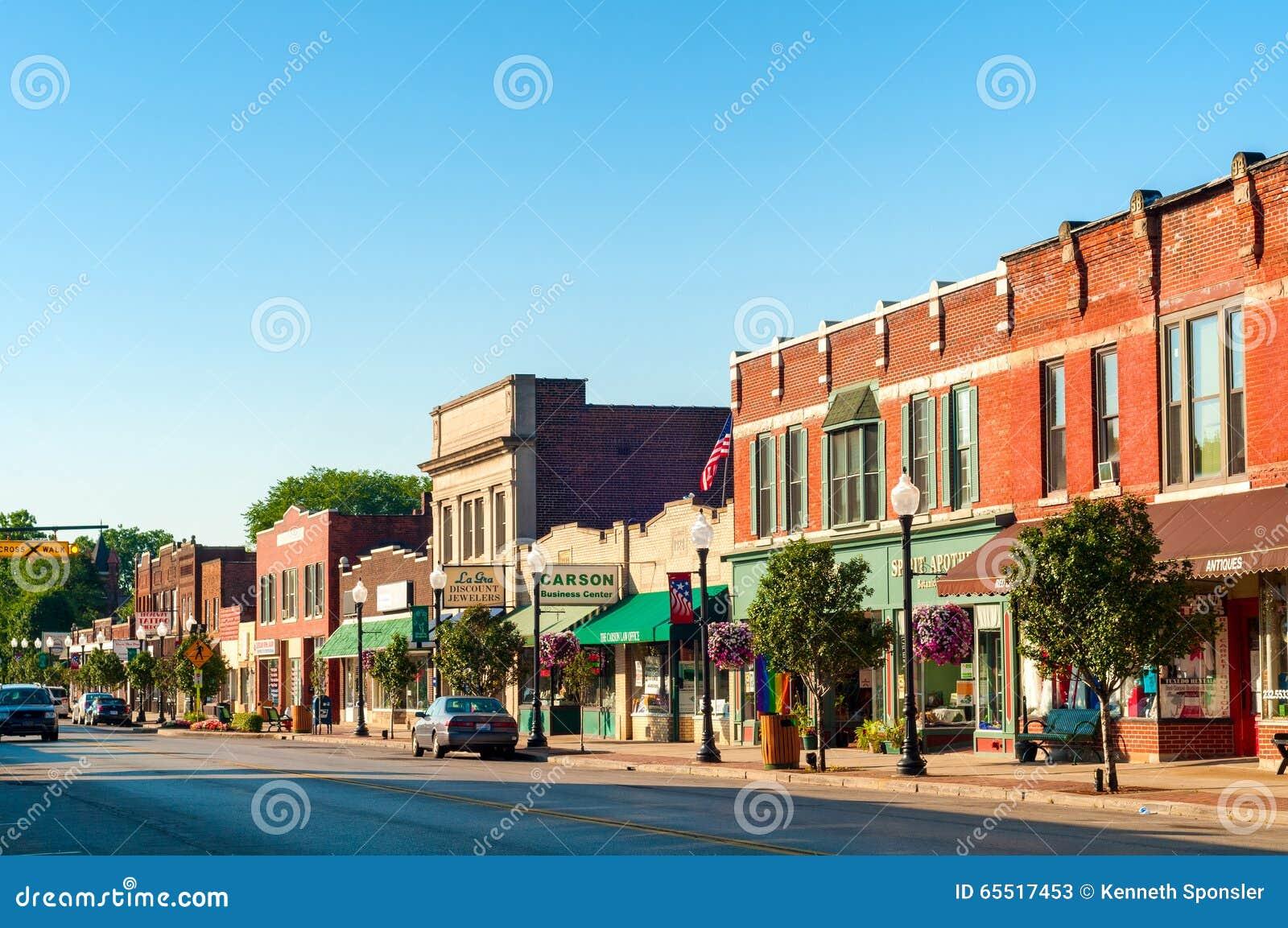 Bedford Ohio van de binnenstad