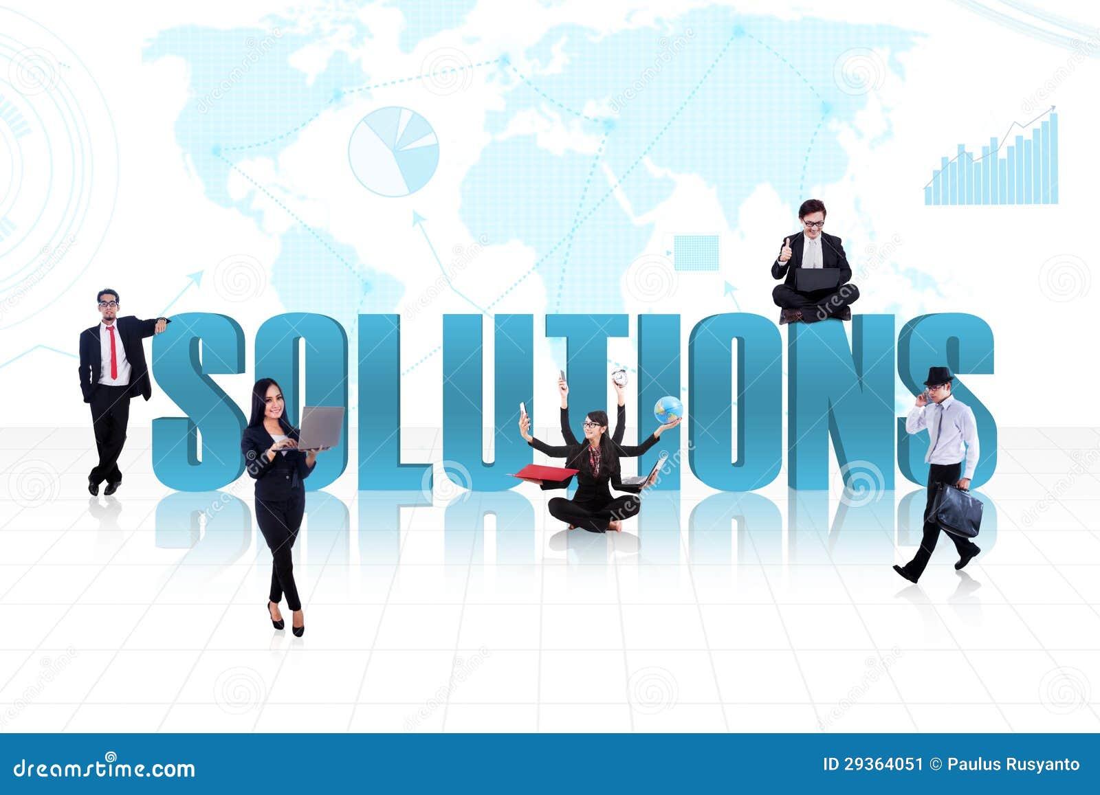 Bedrijfs globale oplossingen in blauw