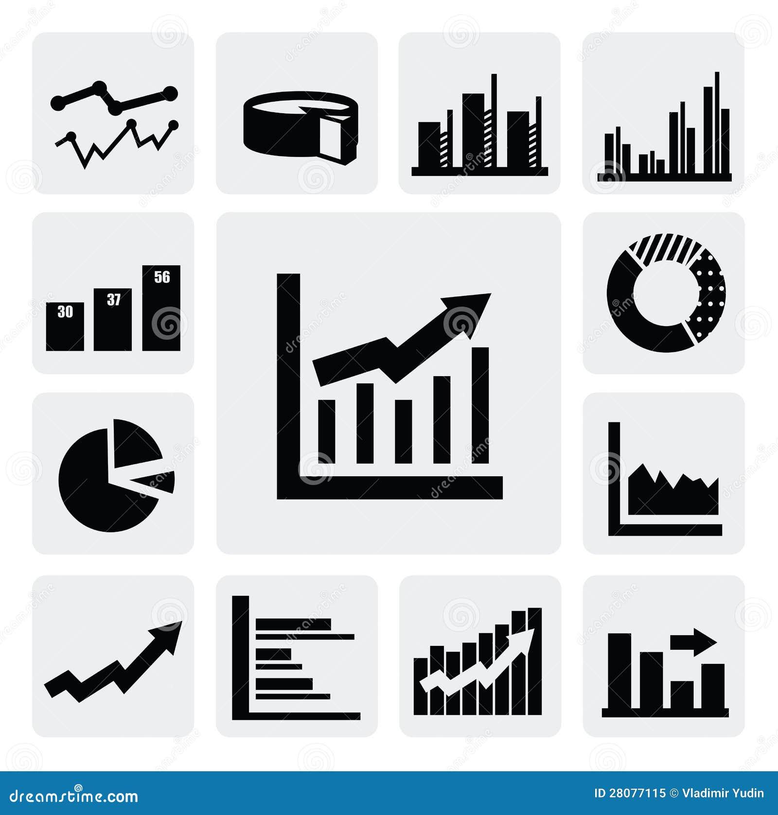 Bedrijfs grafiekpictogrammen