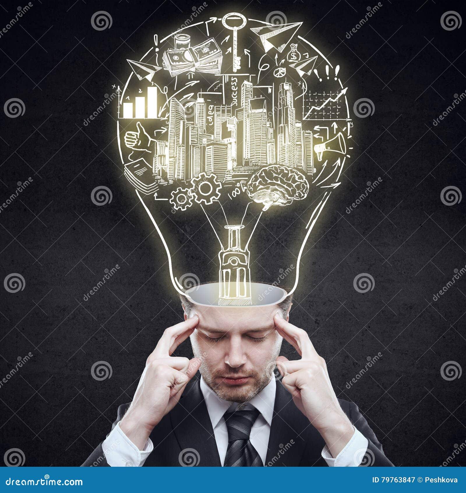 Bedrijfs ideeconcept