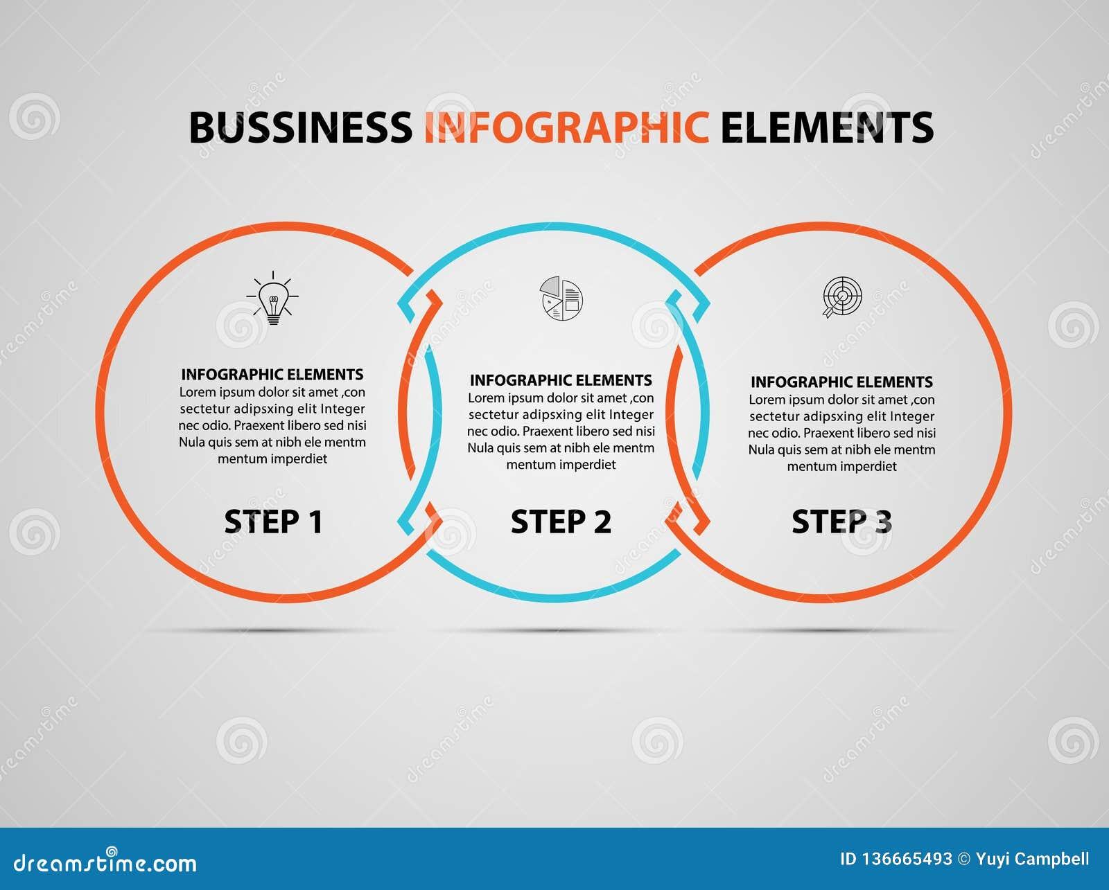Bedrijfs infographic element Vector het ontwerpmalplaatje van de infographicschronologie modern Vector