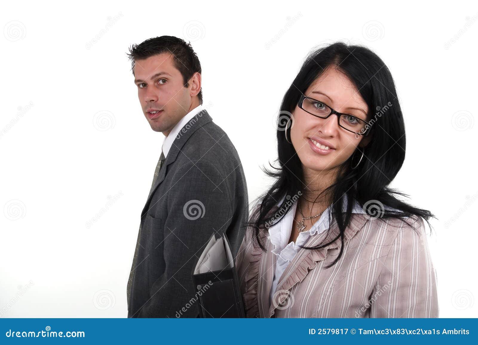 Bedrijfs man en vrouw