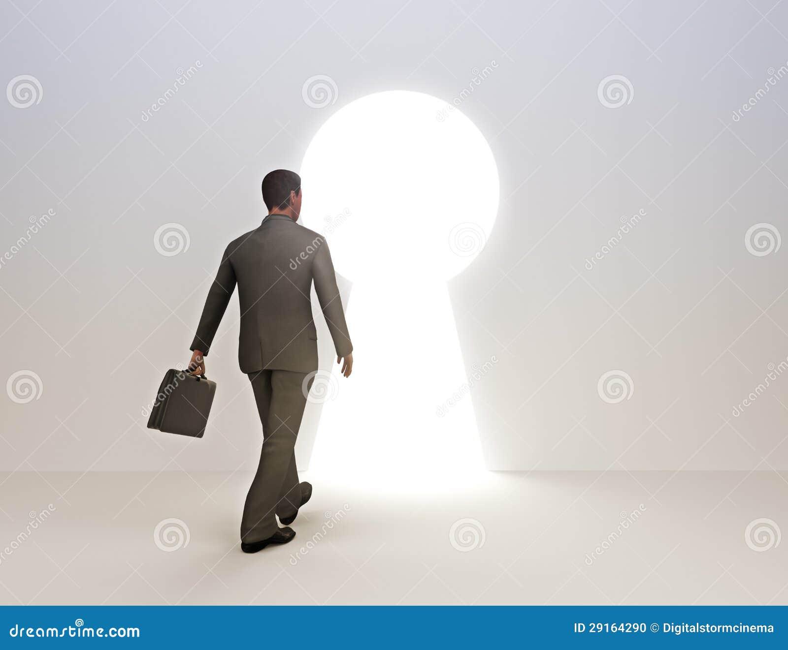 Bedrijfs mannelijke sleutel tot succes