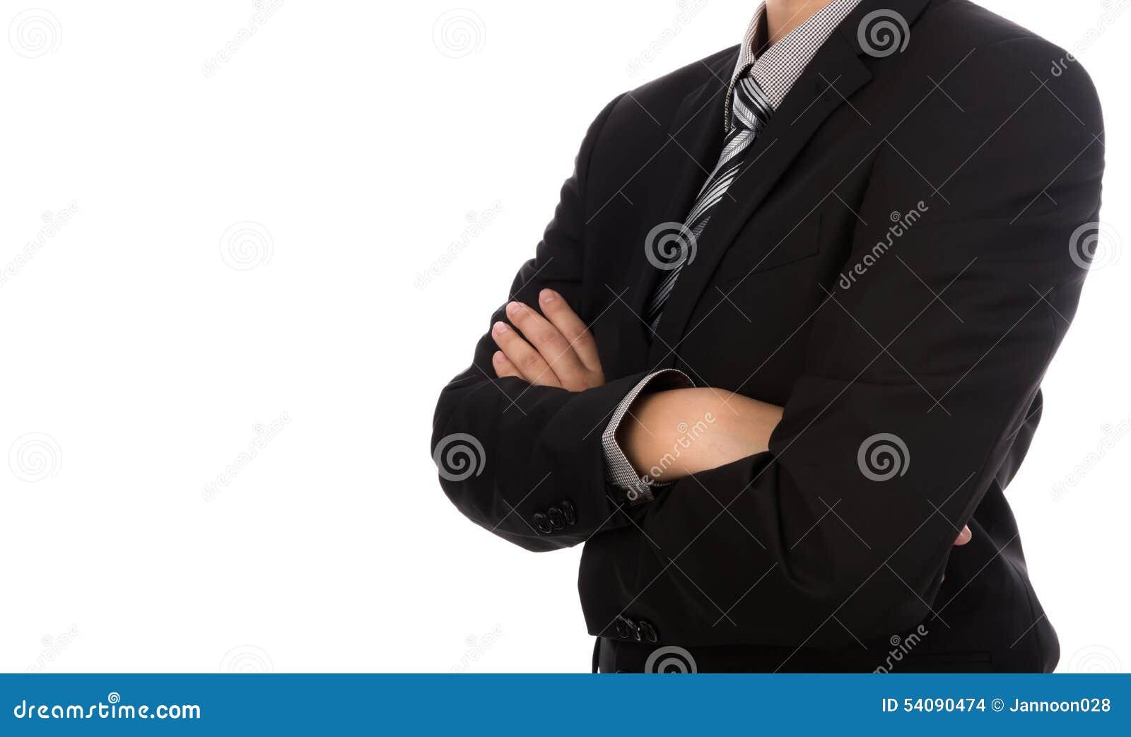 Bedrijfs mens in kostuum