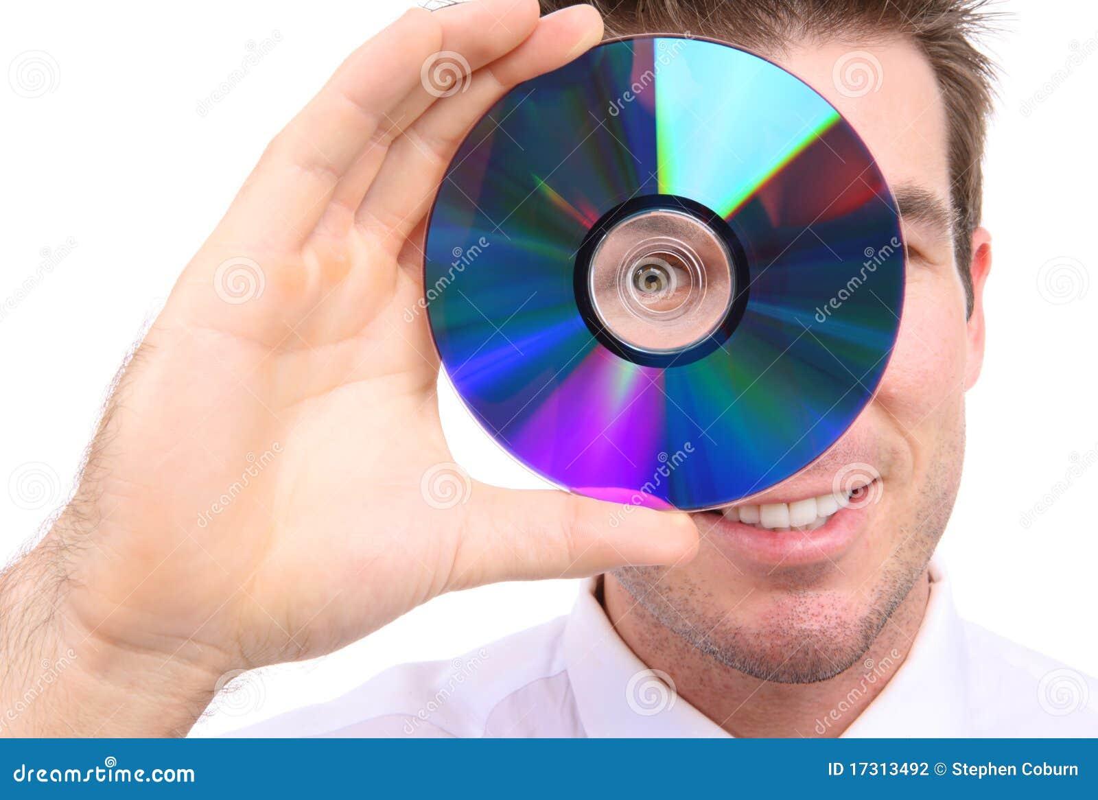 Bedrijfs Mens met Schijf DVD