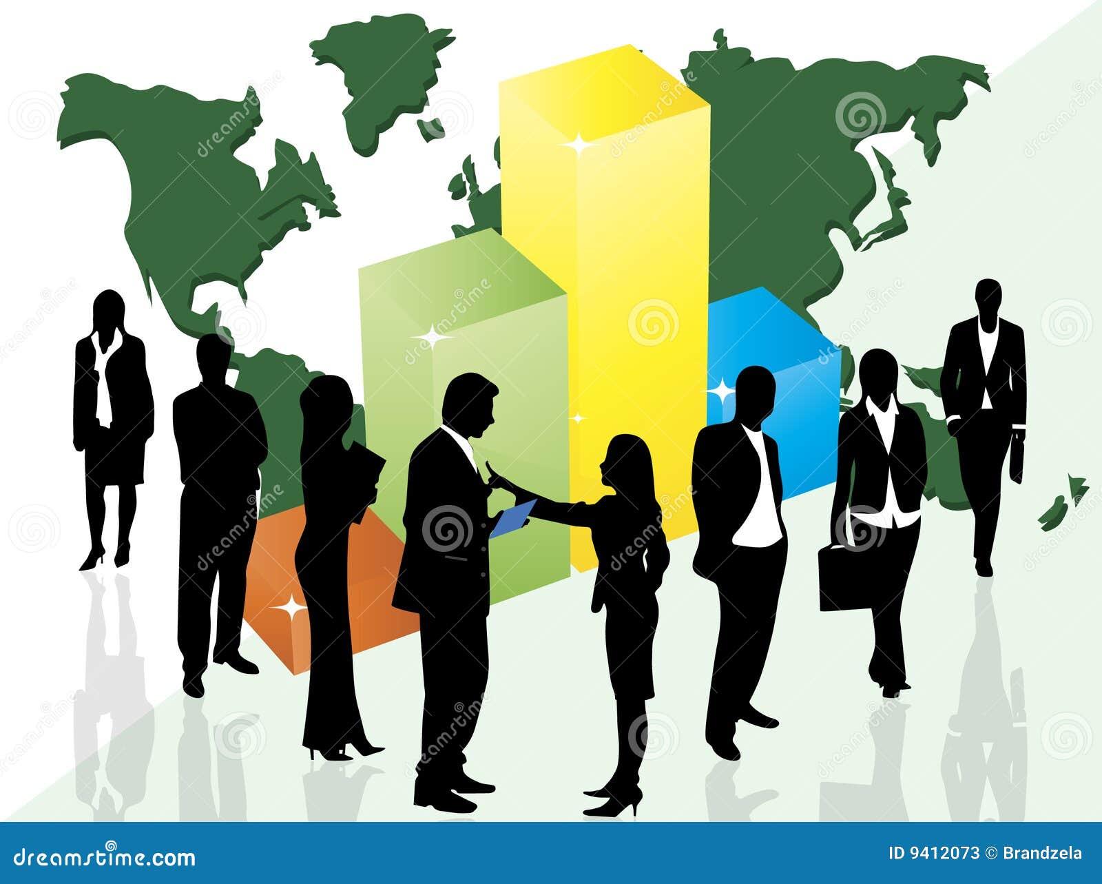 Bedrijfs mensen en grafiek
