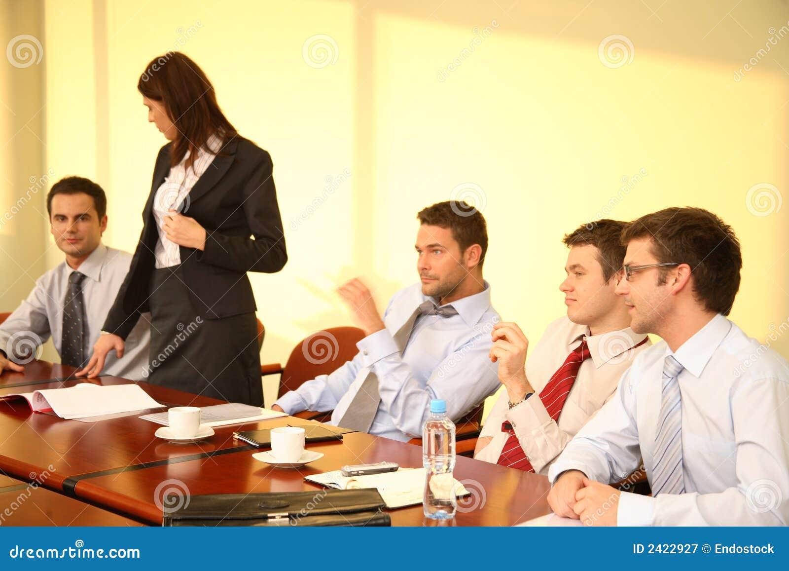 Bedrijfs Mensen op conferentie