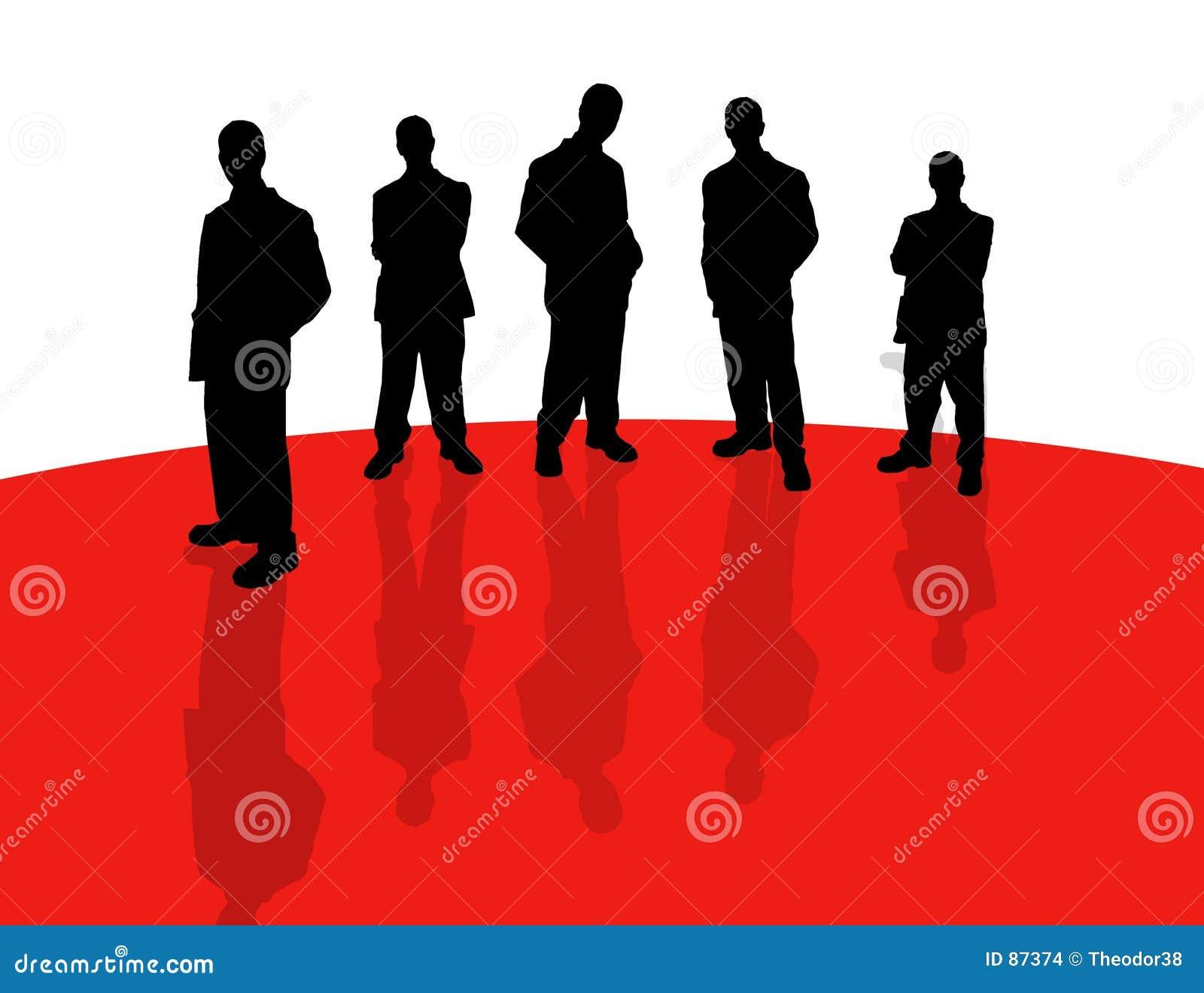 Bedrijfs mensen schaduw-2