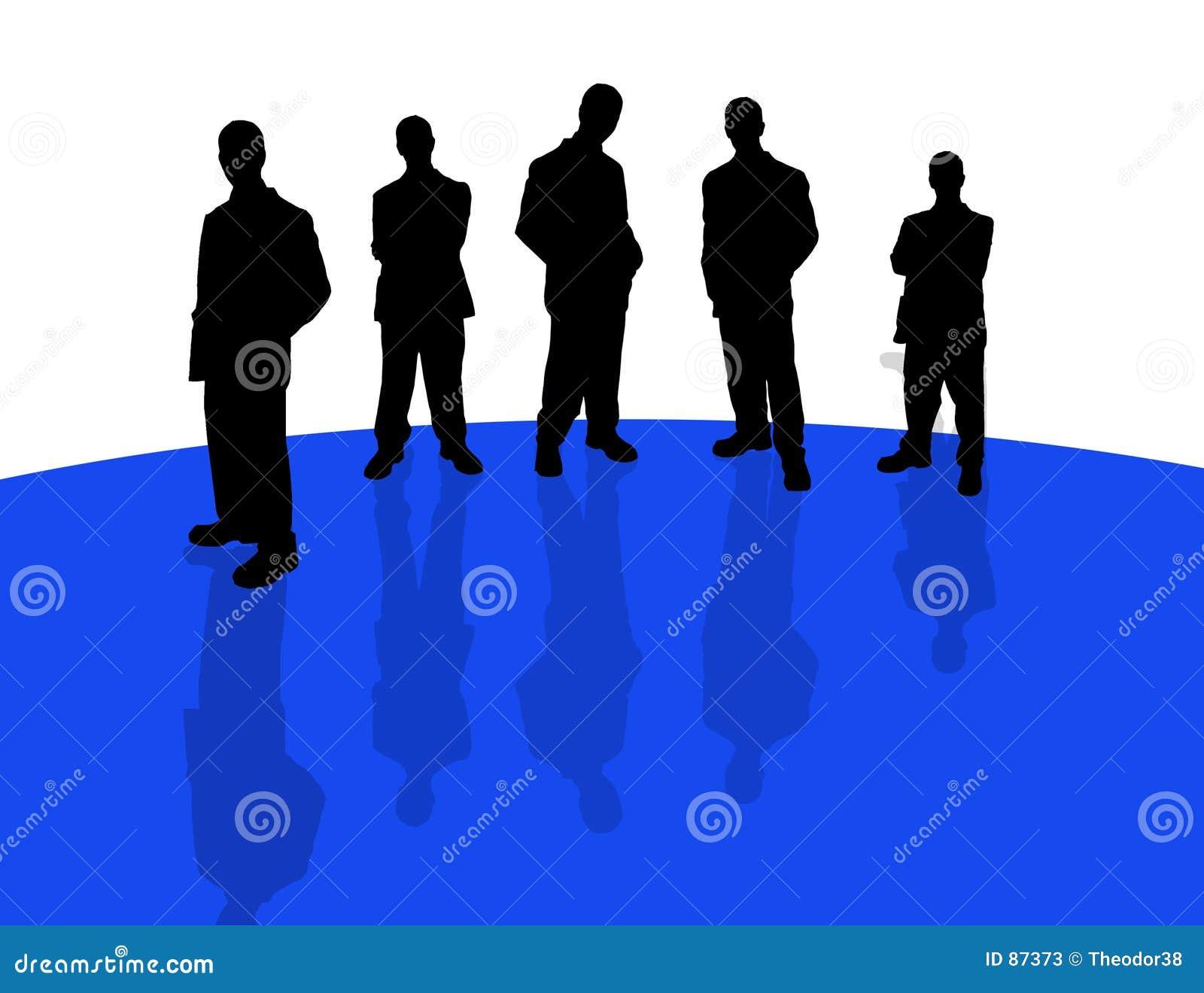 Bedrijfs mensen schaduw-3