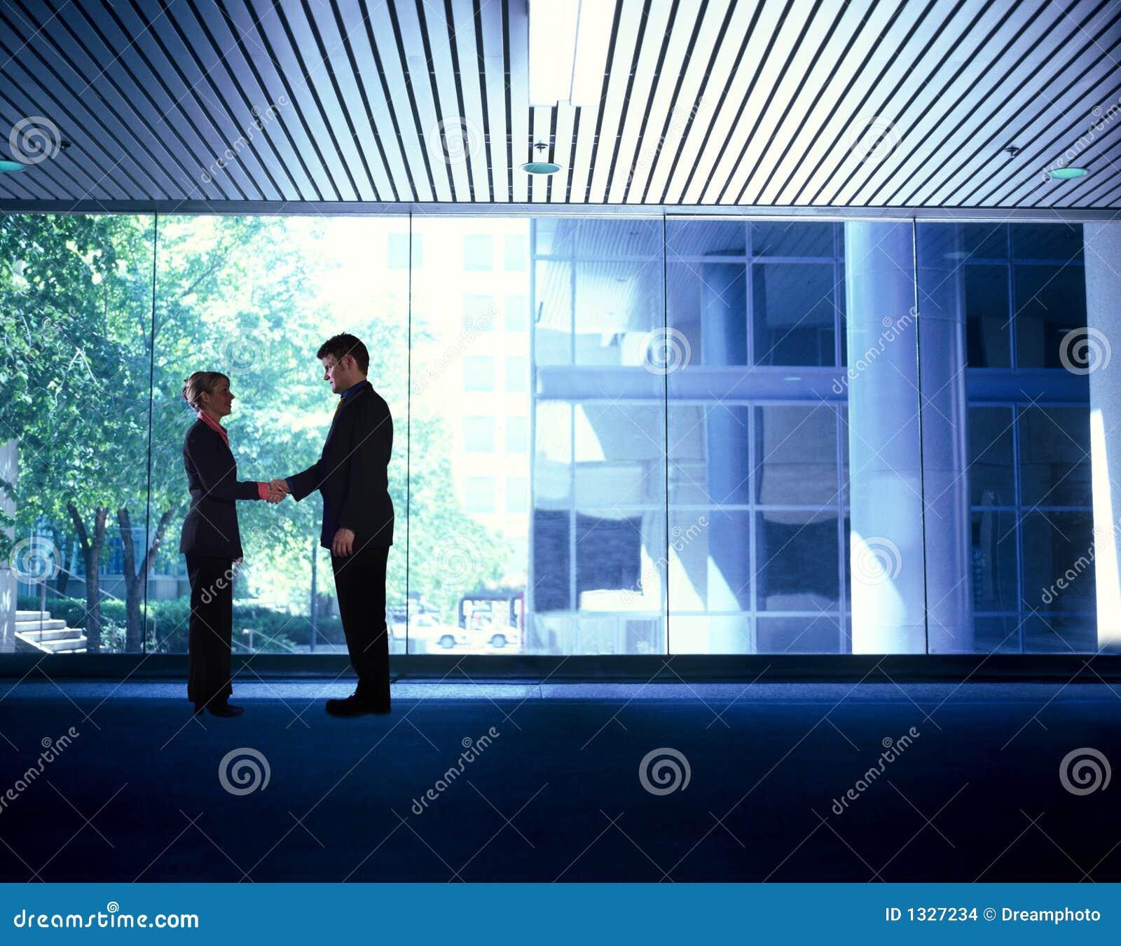Bedrijfs mensenhanddruk