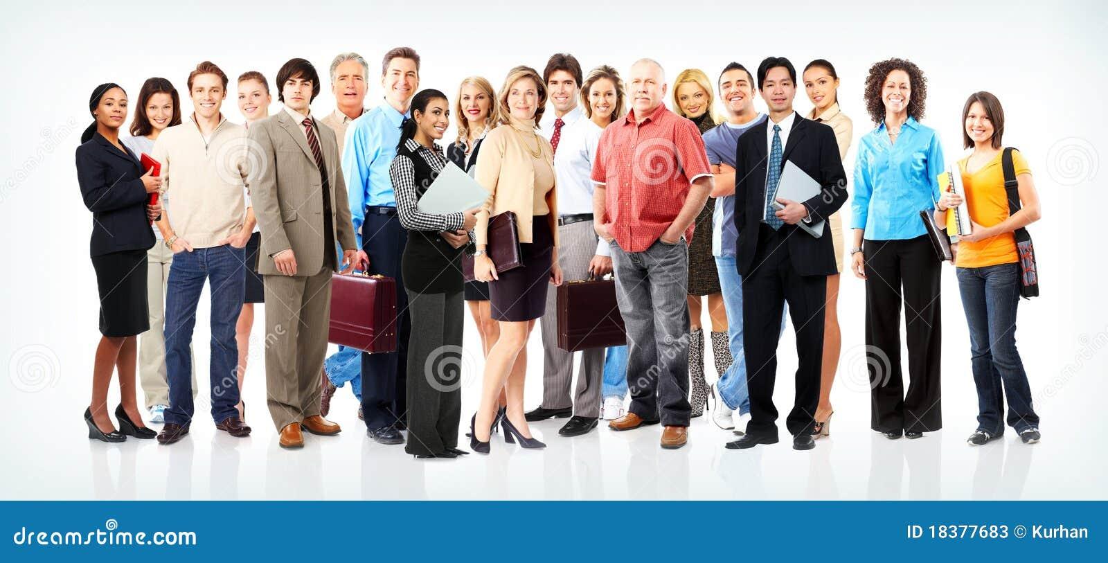 Bedrijfs mensenteam