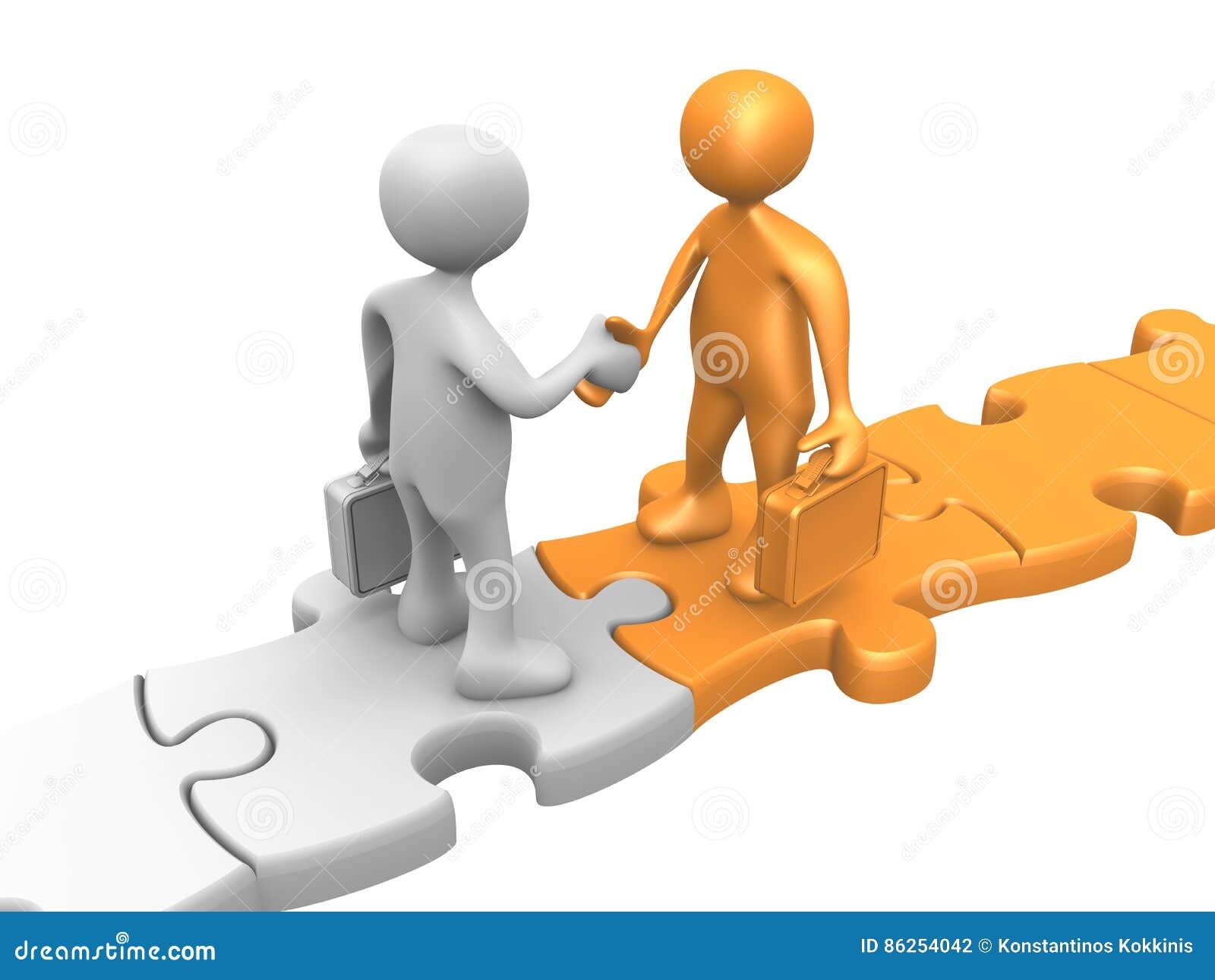 Bedrijfs overeenkomst Hogere volwassen zakenman