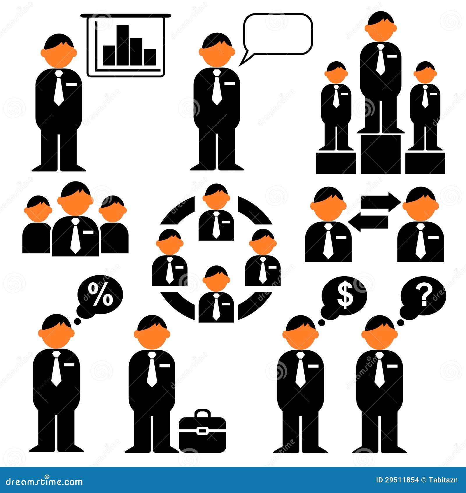 Bedrijfs pictogrammen