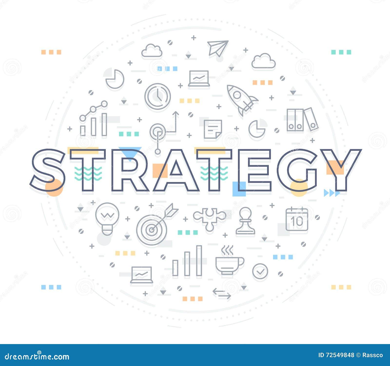 Bedrijfs strategieconcept