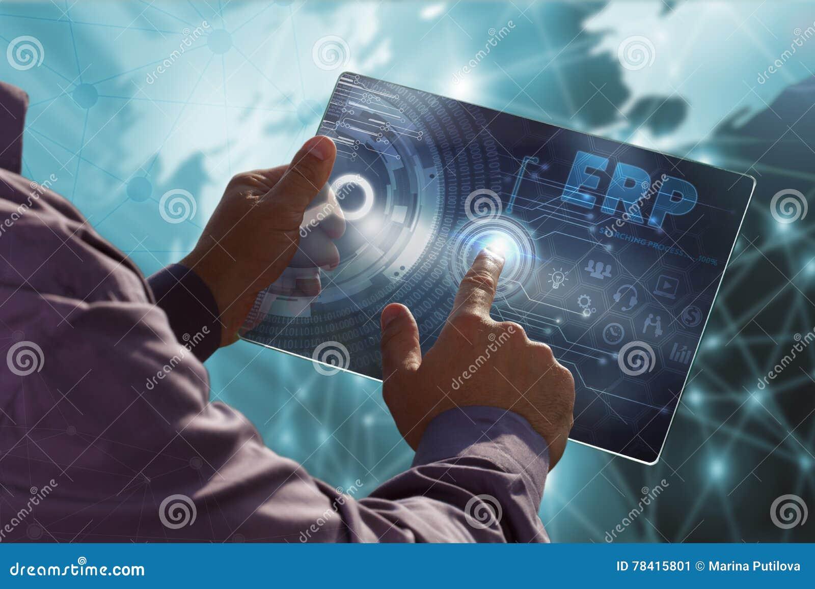 Bedrijfs, Technologie, van Internet en van het netwerk concept Jonge busin