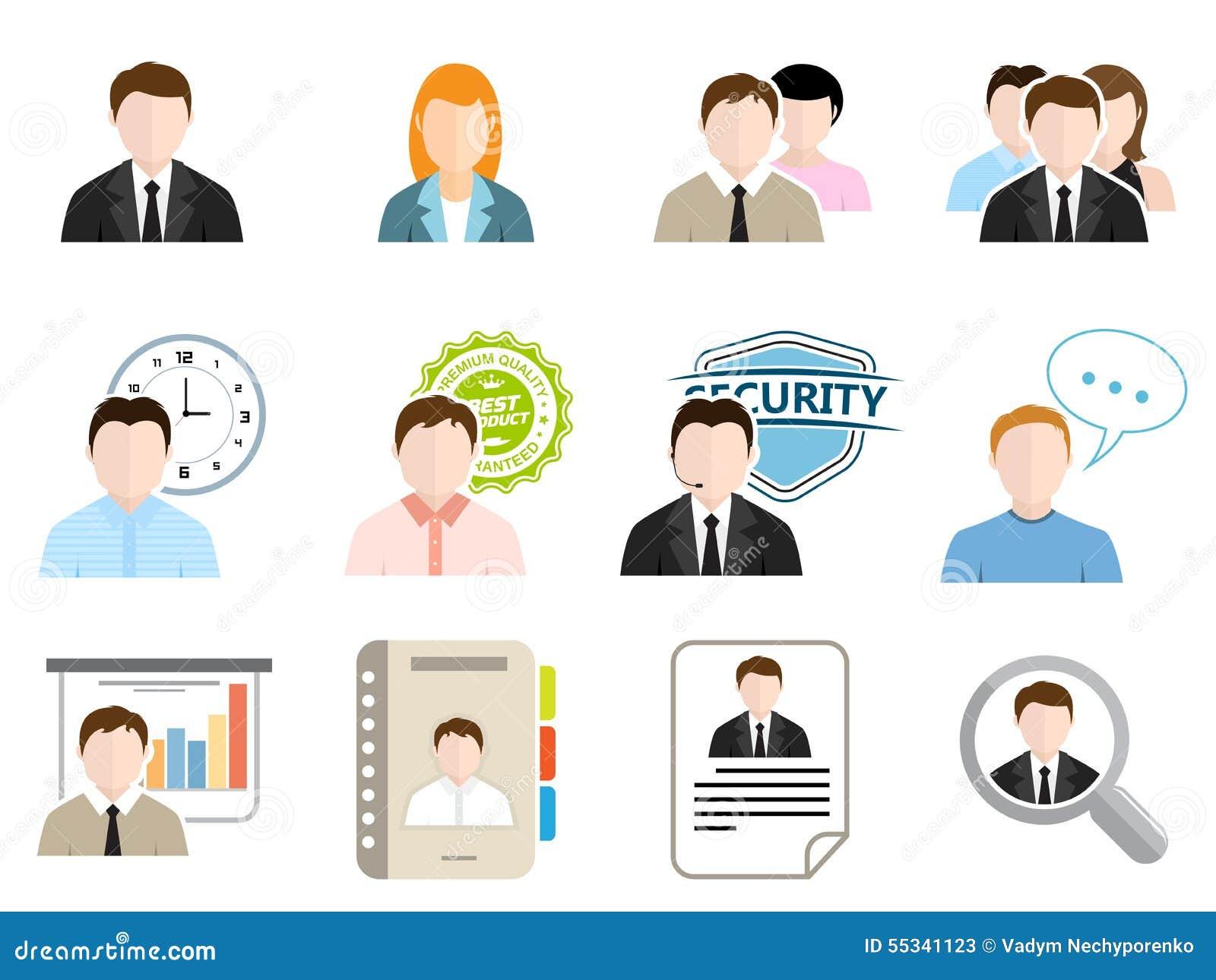 Bedrijfs vlakke pictogrammen