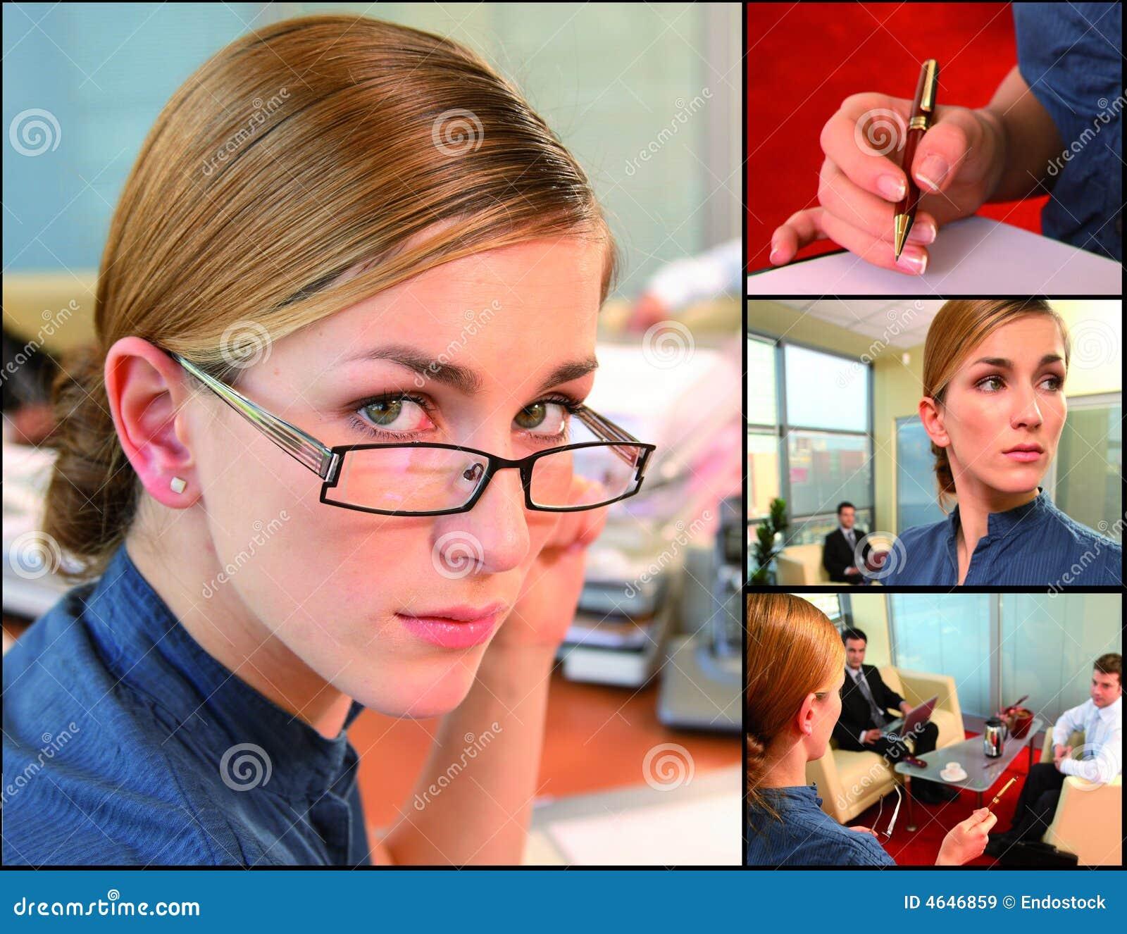 Bedrijfs vrouw in actie