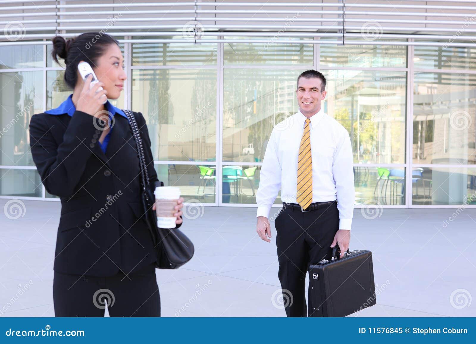 Bedrijfs Vrouw die op Partner wacht