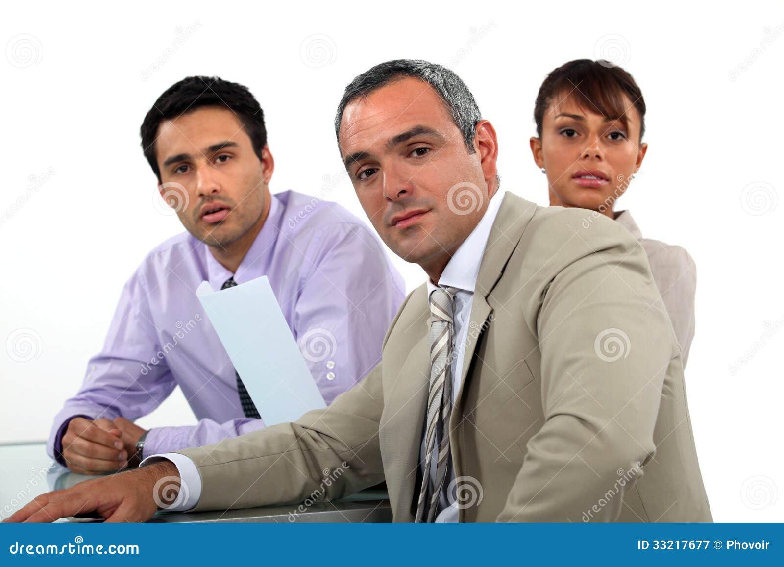 Bedrijfsberoeps die een vergadering hebben