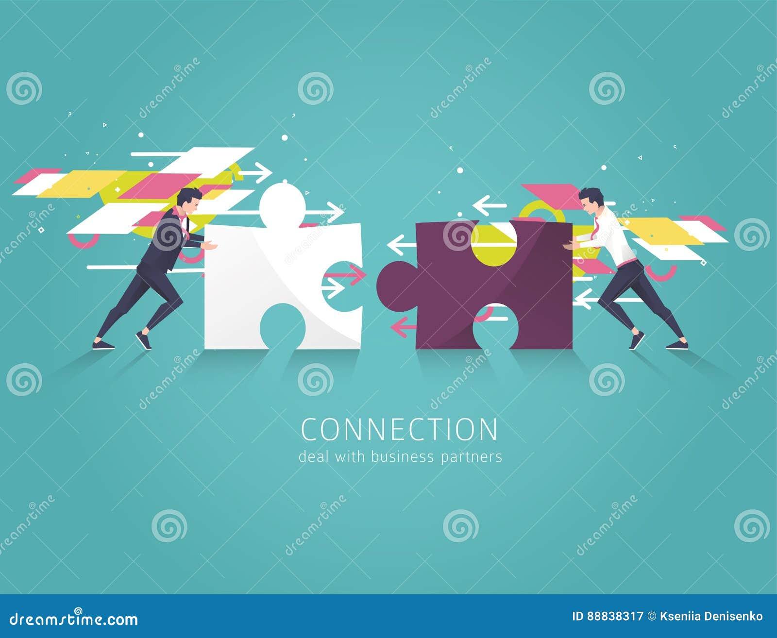 Bedrijfsconcept oplossing, vennootschap, samenwerking en steun