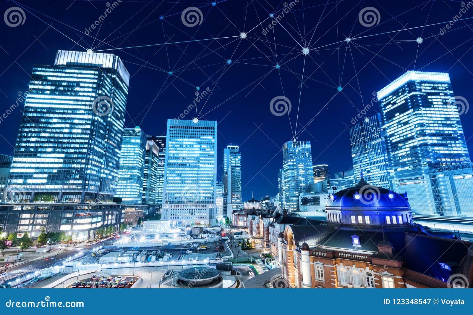 Bedrijfsconcept voor informatie, mededeling, verbindingstechnologie