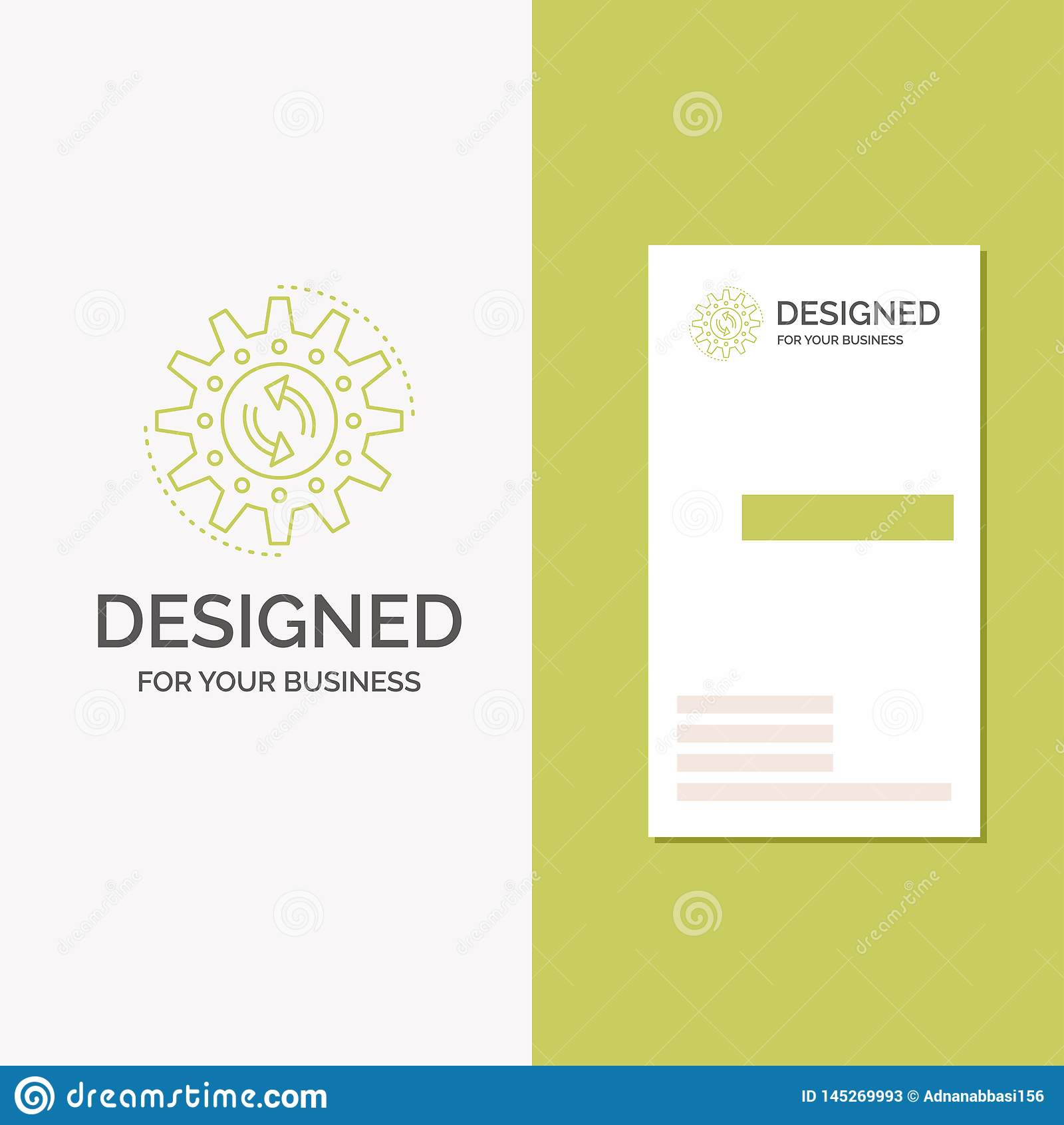Bedrijfsembleem voor beheer, proces, productie, taak, het werk r creatief