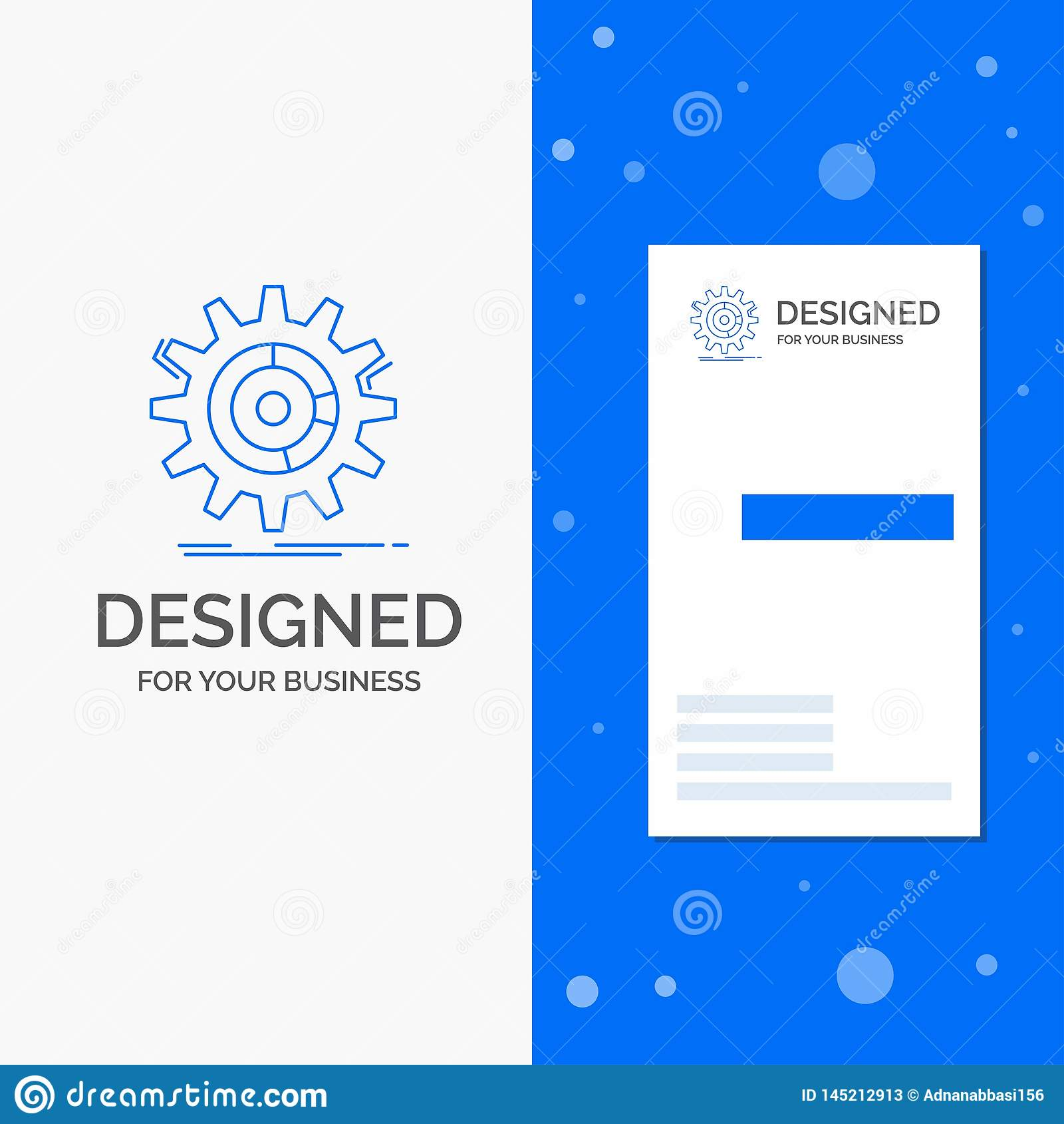 Bedrijfsembleem voor het plaatsen, gegevens, beheer, proces, vooruitgang Verticaal Blauw Bedrijfs/Visitekaartjemalplaatje