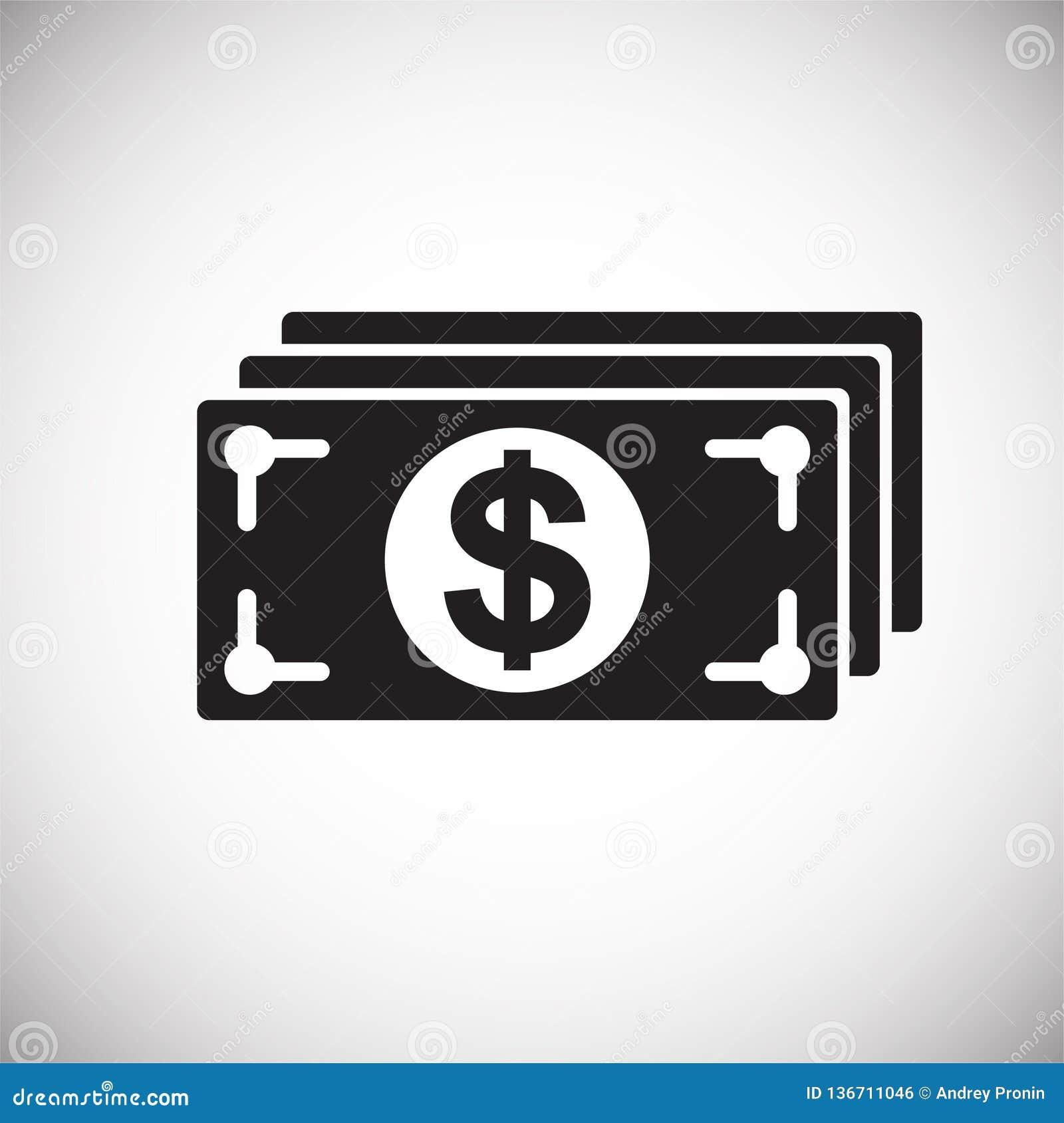 Bedrijfsgeldpictogram op witte achtergrond voor grafisch en Webontwerp, Modern eenvoudig vectorteken Het concept van Internet In