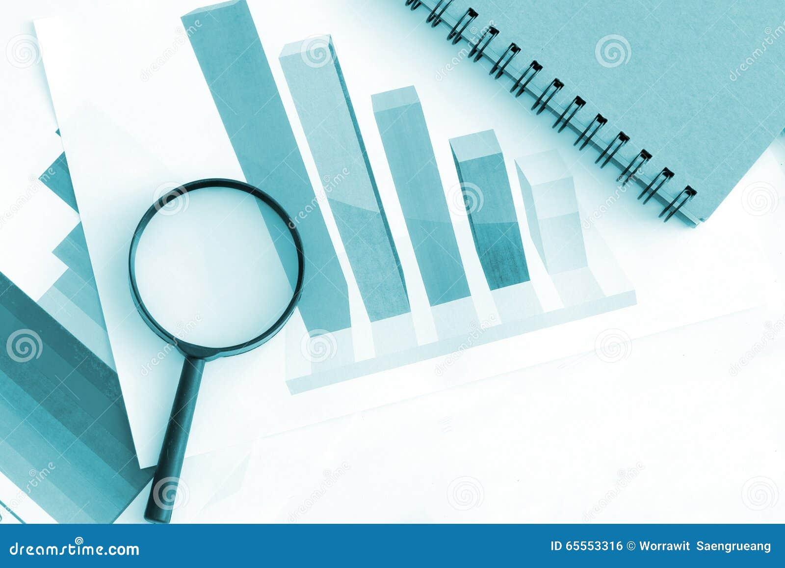 Bedrijfsgrafiek economische analyse