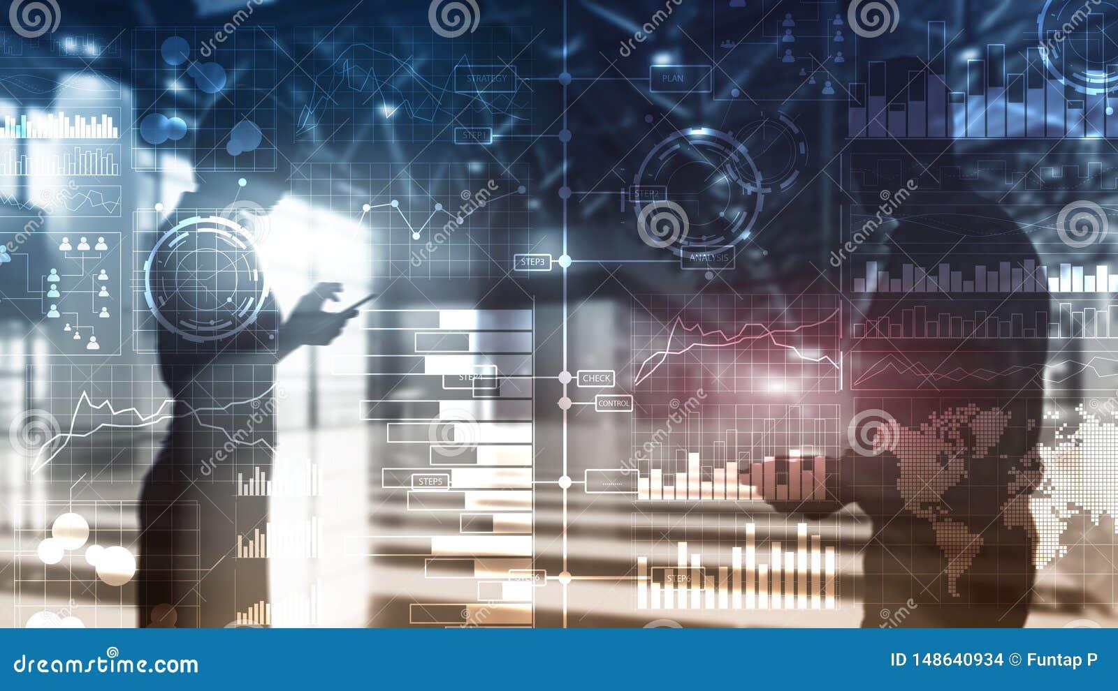 Bedrijfsintelligentie Diagram, Grafiek die, Voorraad, transparant Investeringsdashboard, handel drijven