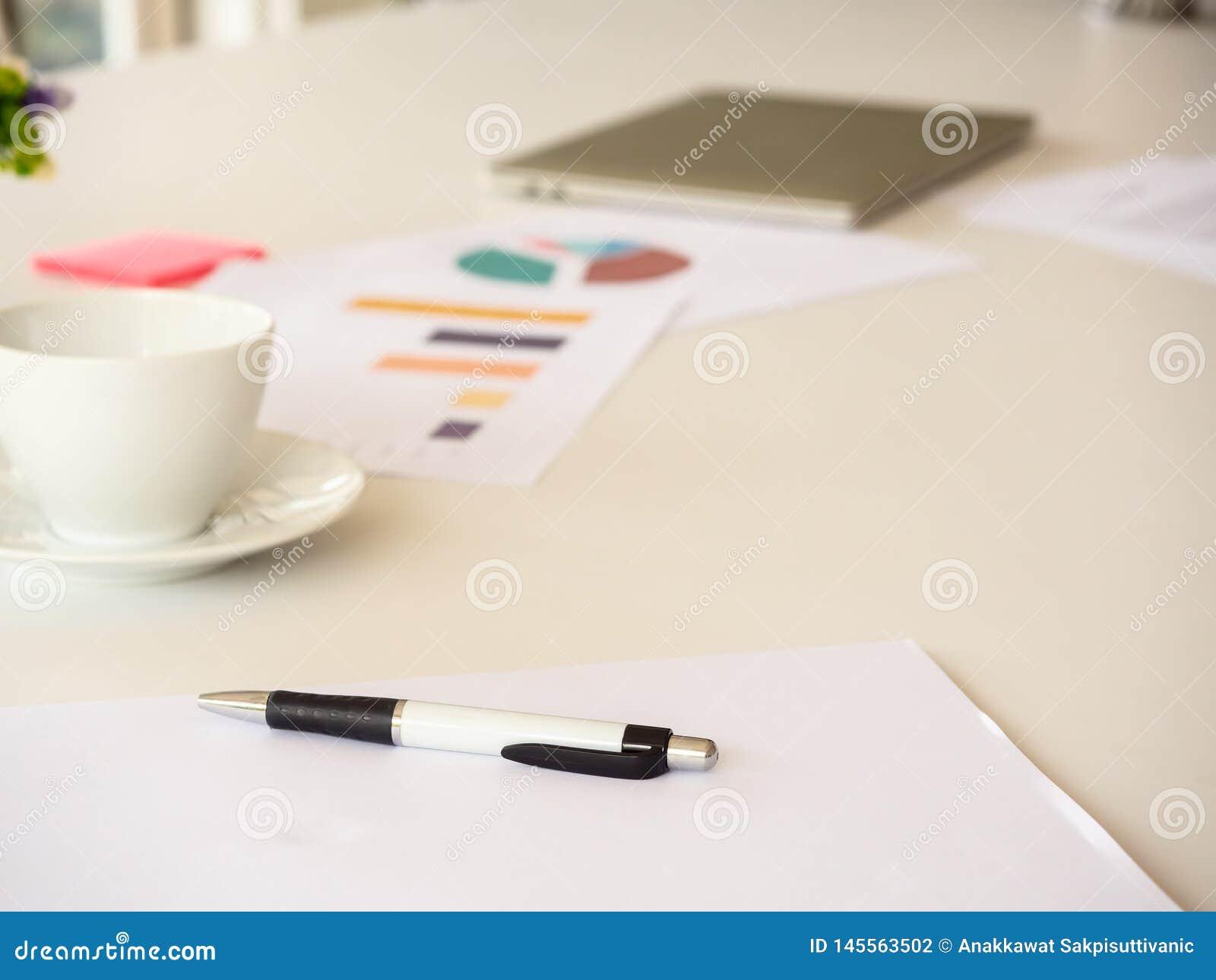Bedrijfslijst in bureau