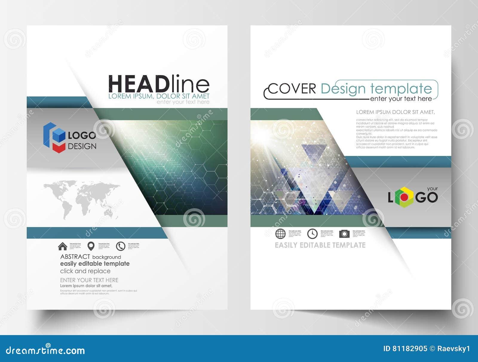 Bedrijfsmalplaatjes voor brochure, tijdschrift, vlieger, boekje, rapport Het malplaatje van het dekkingsontwerp, vectorlay-out, A