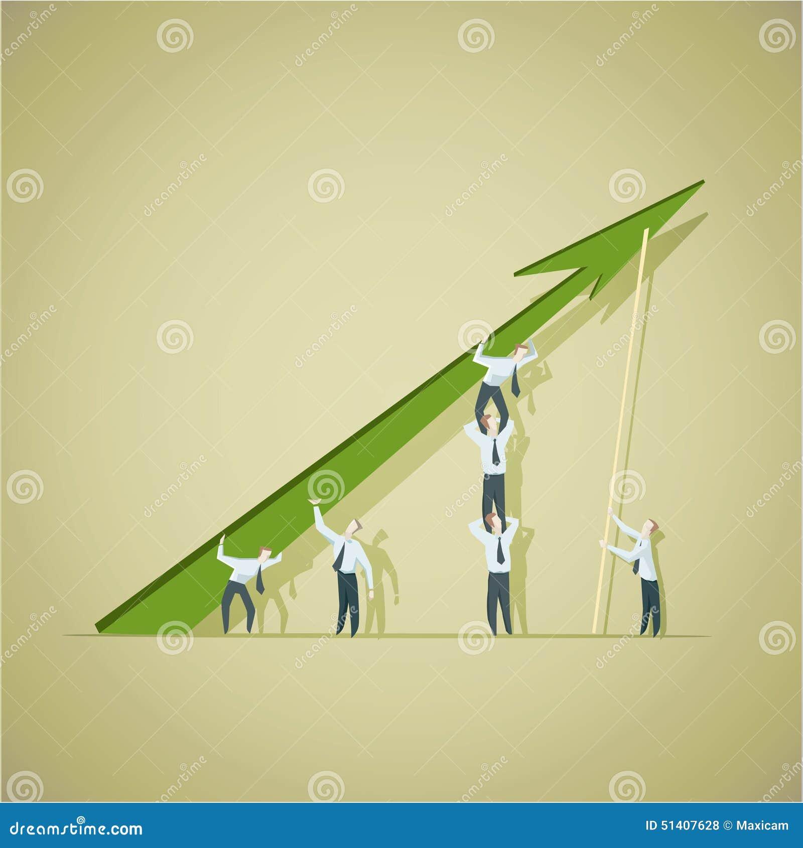 Bedrijfsmens die voltooiingsgrafiek proberen te verbeteren