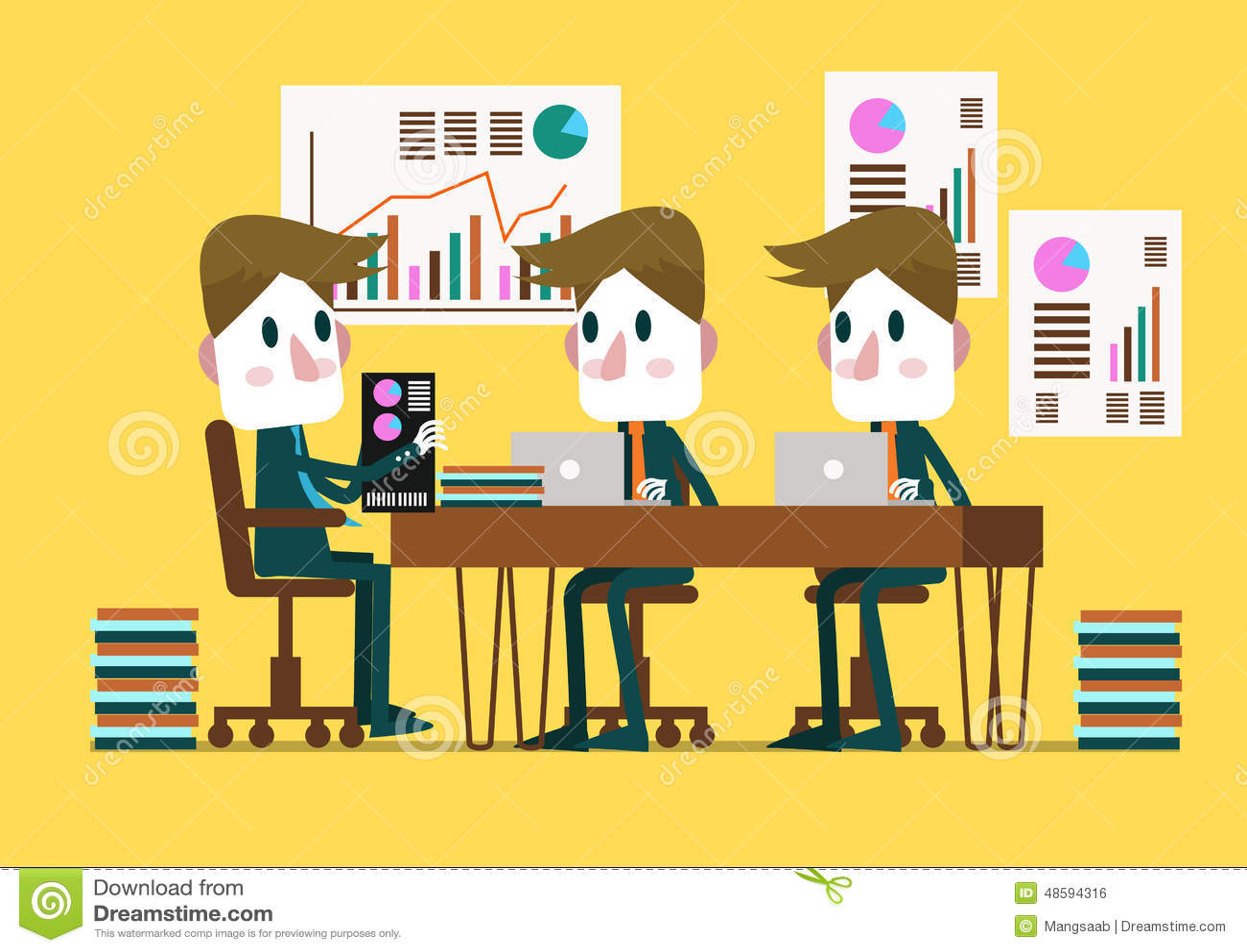 Bedrijfsmensen in een Conferentiezaal