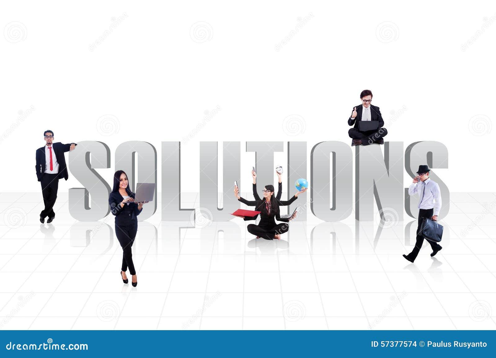 Bedrijfsoplossingen op wit