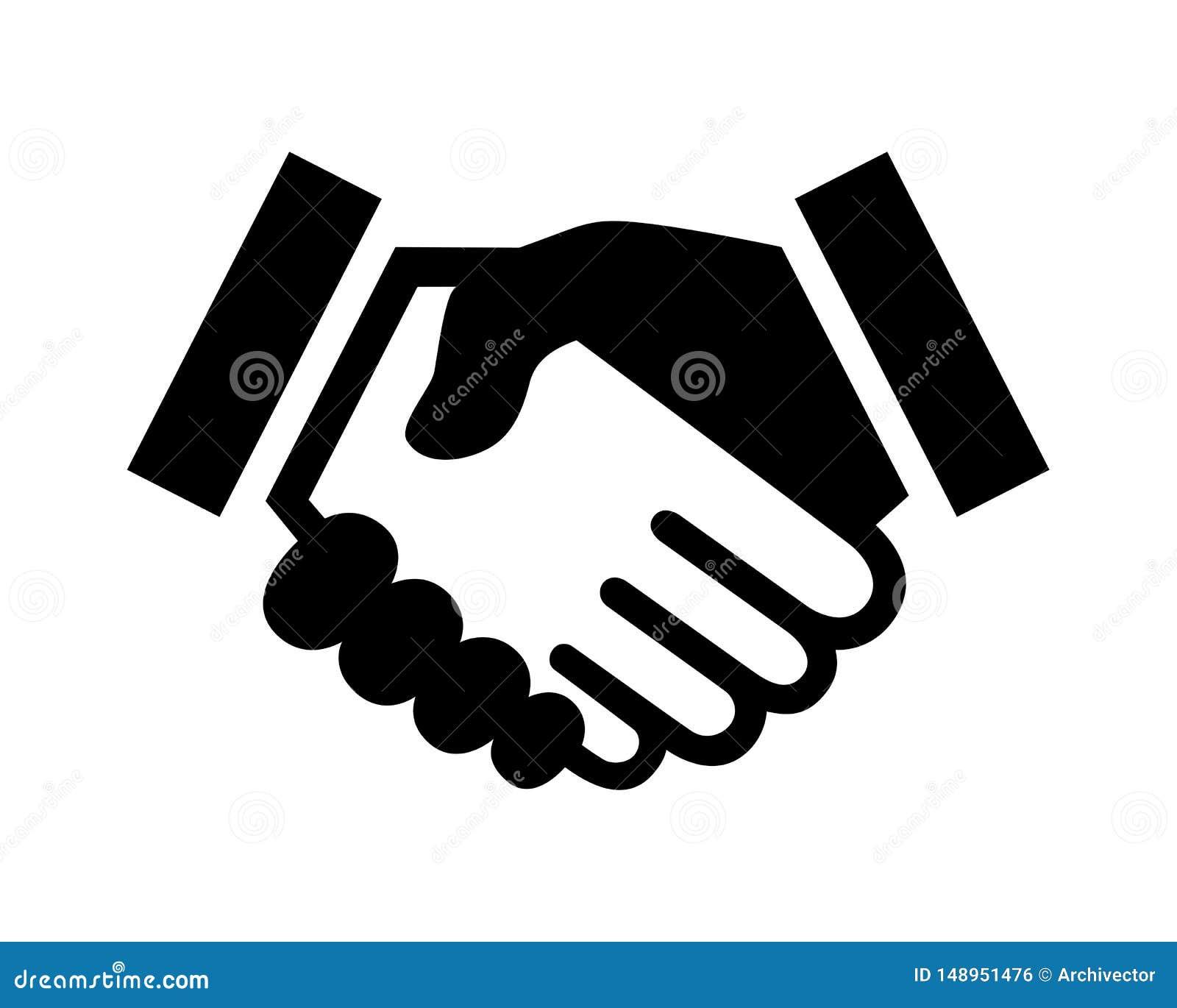 Bedrijfsovereenkomstenhanddruk of vriendschappelijke handdruk