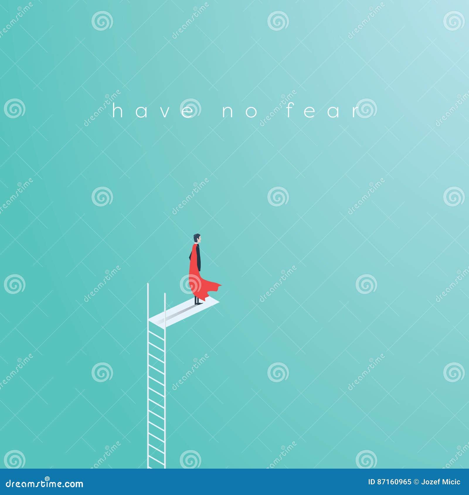 Bedrijfssuperherozakenman die zich op hoge laddersprong bevinden Symbool van bedrijfsmoed, onverschrokken moed, macht