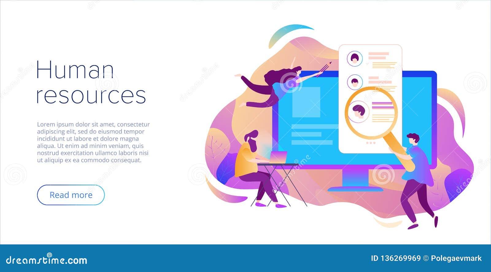 Bedrijfsu concept De de hurende werknemer of arbeiders van de personeelsmanager voor baan Het aanwerven van personeel in bedrijf