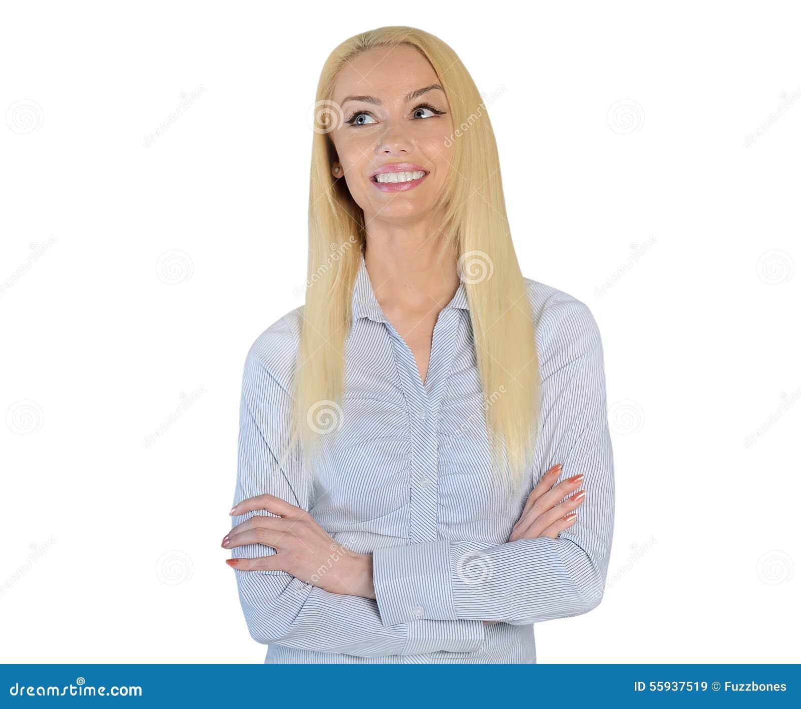 Bedrijfsvrouw die omhoog kijken